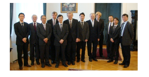 BME Rector, Gabor Peceli(6th from left) with NICT delegation
