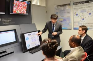 Dr. Inoue, Director, Cybersecutiry Laboratory, Network Security Research Institute, explained the nicter.