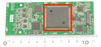 igure 1 Developed baseband IC and its mounting board for TV white-space WLAN system.